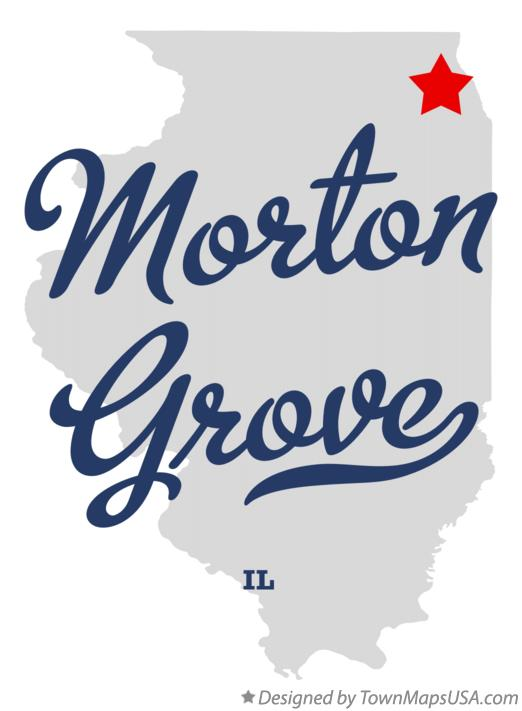 Map of Morton Grove Illinois IL