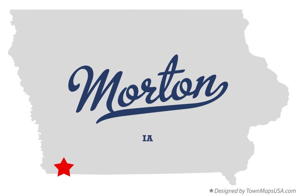 Map of Morton Iowa IA