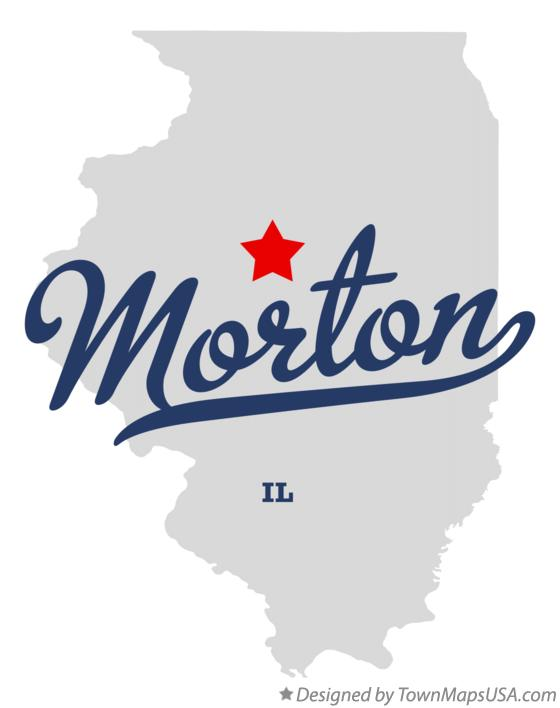 Map of Morton Illinois IL