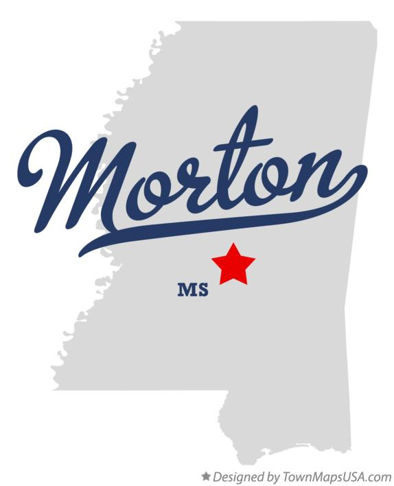 Map of Morton Mississippi MS