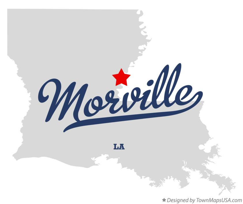 Map of Morville Louisiana LA