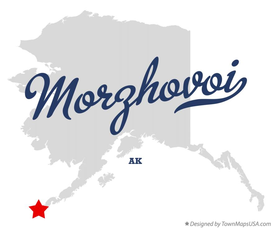 Map of Morzhovoi Alaska AK