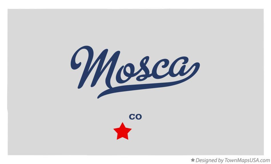 Mosca Colorado Map.Map Of Mosca Co Colorado