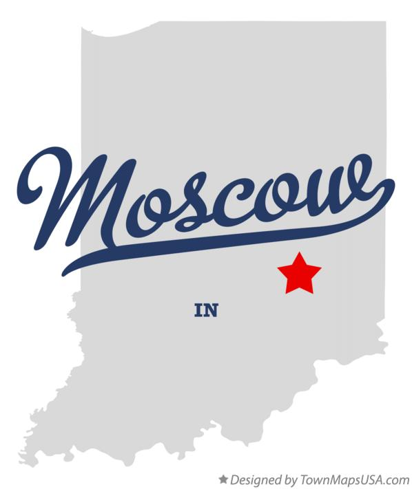Map of Moscow Indiana IN