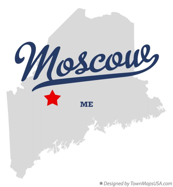 Map of Moscow Maine ME