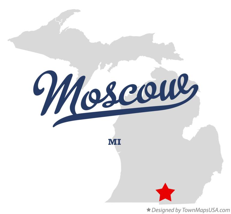 Map of Moscow Michigan MI