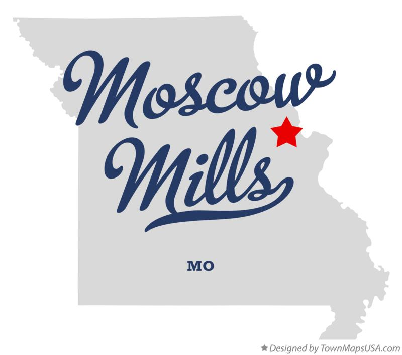 Map of Moscow Mills Missouri MO