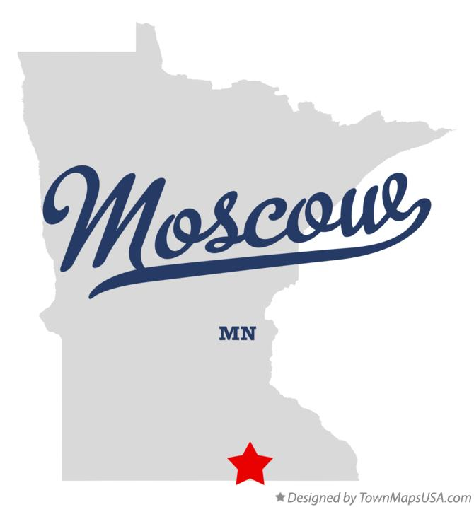 Map of Moscow Minnesota MN