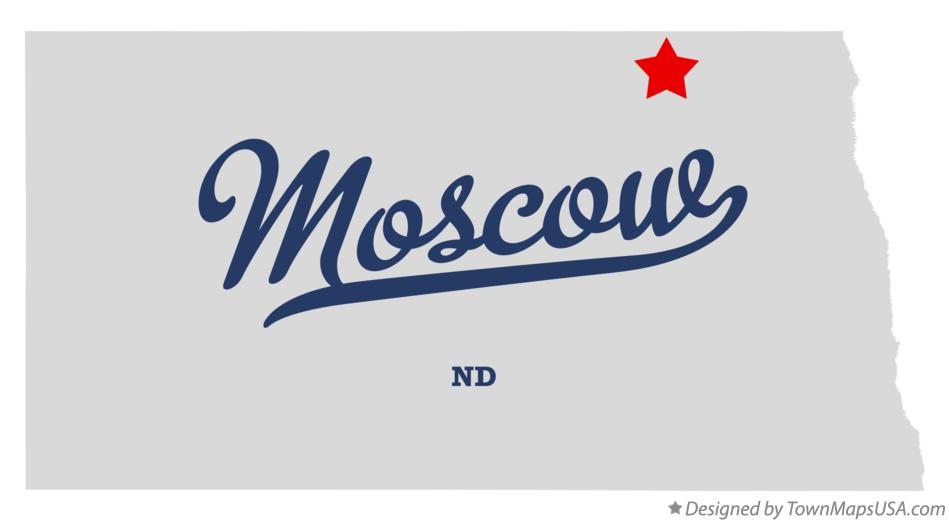 Map of Moscow North Dakota ND