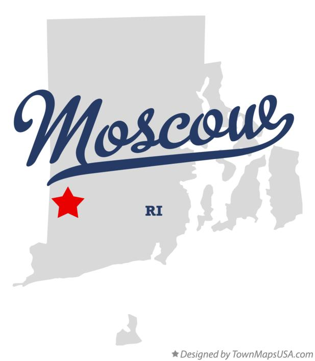 Map of Moscow Rhode Island RI