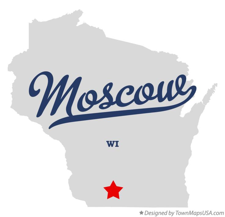 Map of Moscow Wisconsin WI