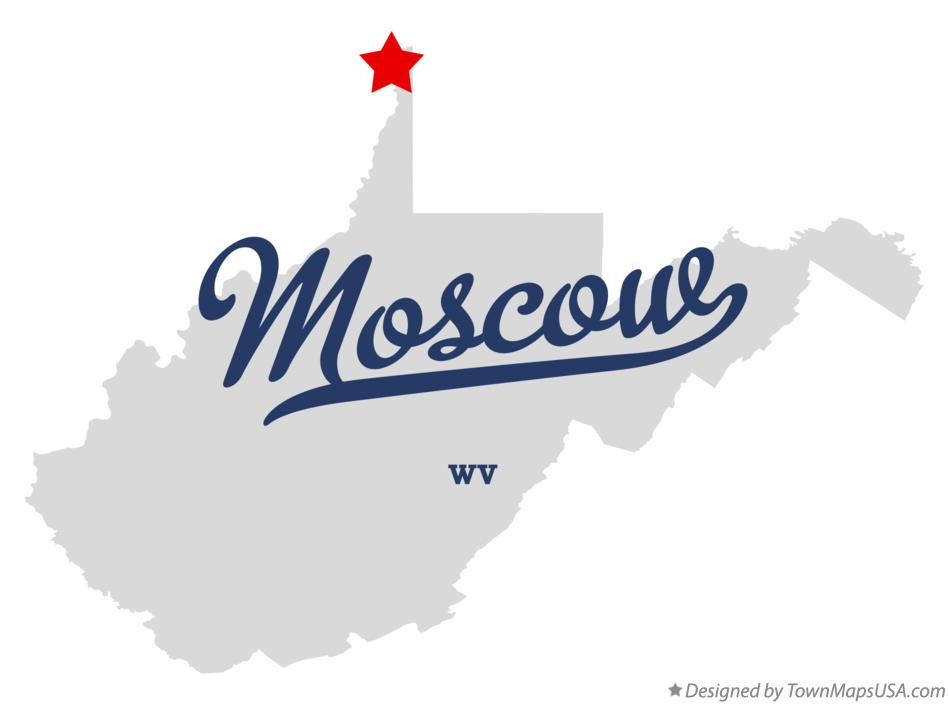 Map of Moscow West Virginia WV