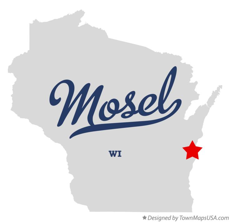 Map of Mosel Wisconsin WI