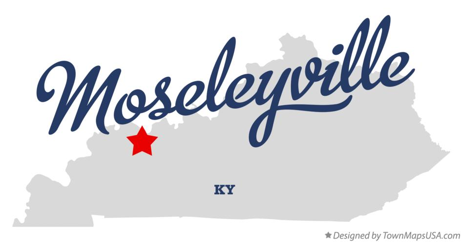 Map of Moseleyville Kentucky KY