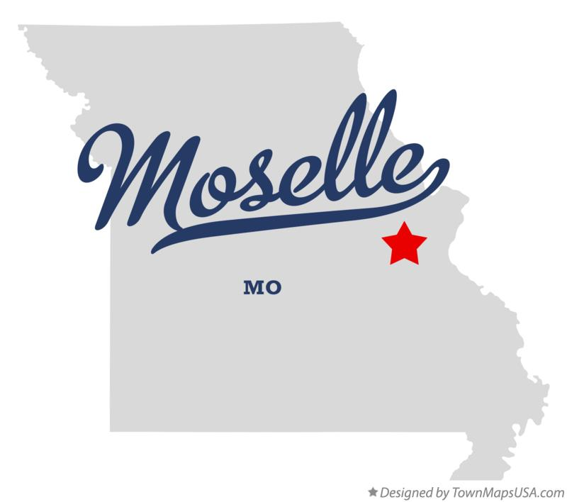 Map of Moselle Missouri MO