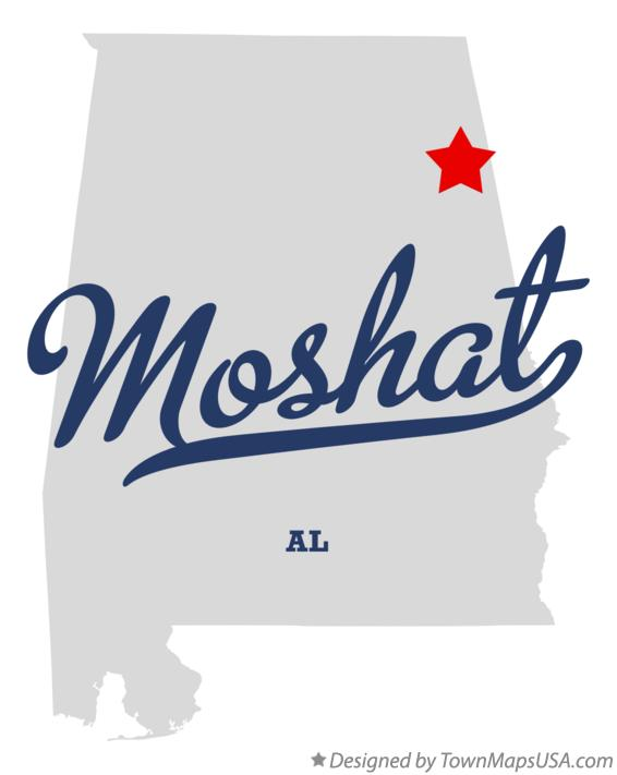Map of Moshat Alabama AL