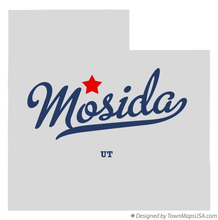 Map of Mosida Utah UT