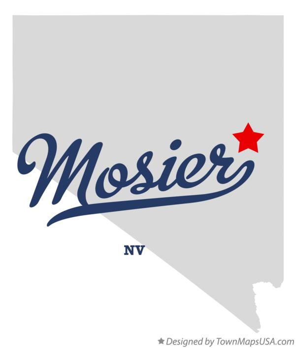 Map of Mosier Nevada NV