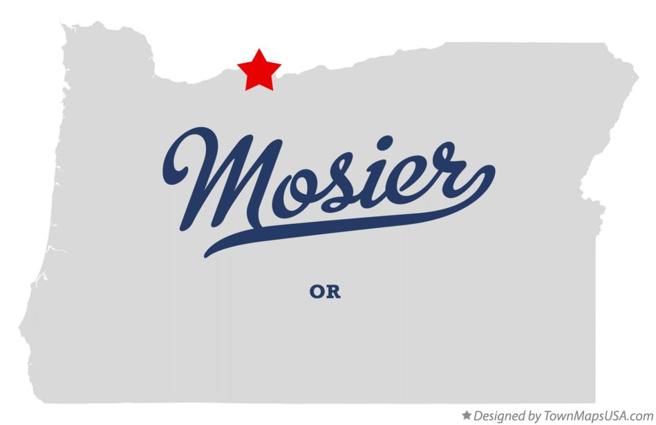 Map of Mosier Oregon OR