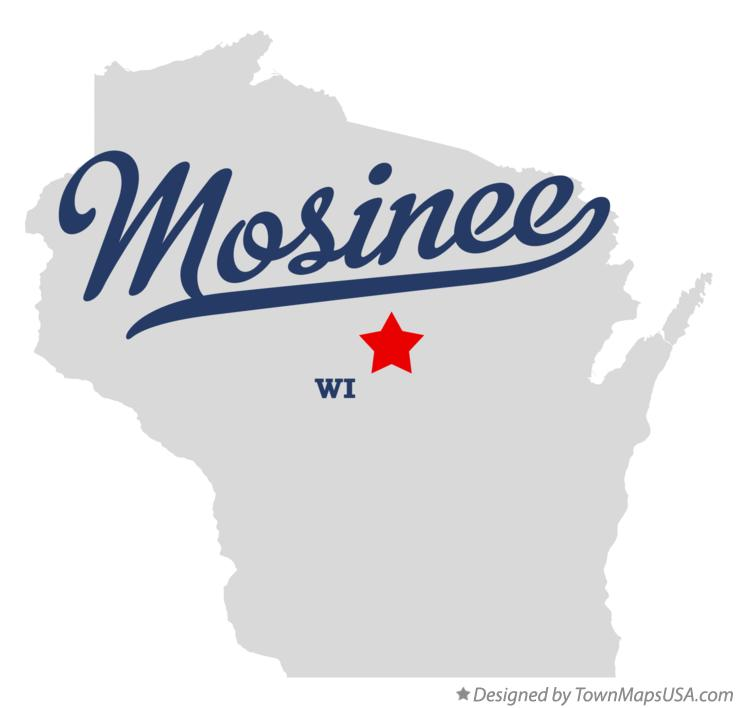 Map of Mosinee Wisconsin WI