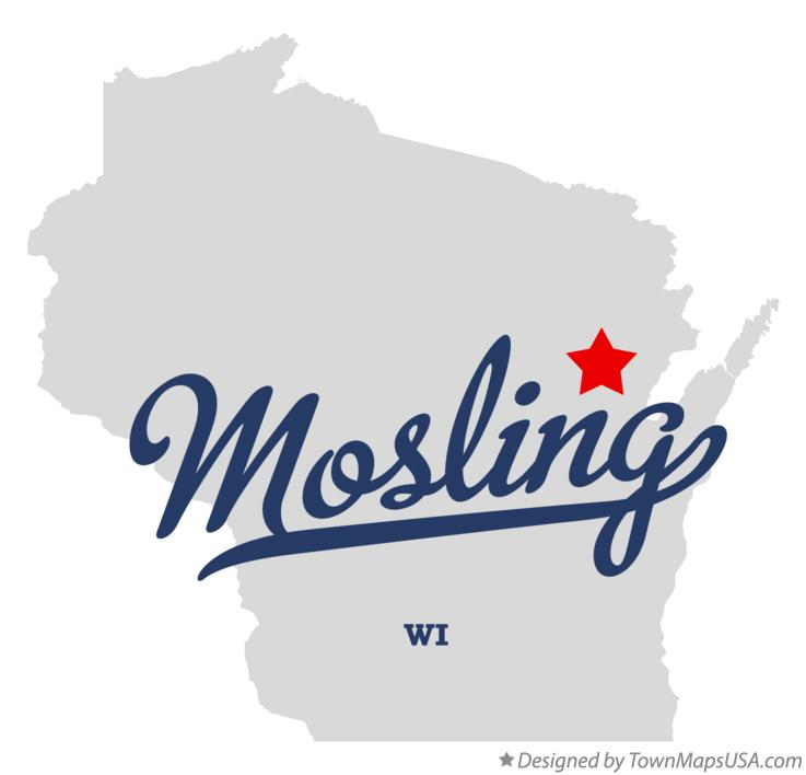 Map of Mosling Wisconsin WI