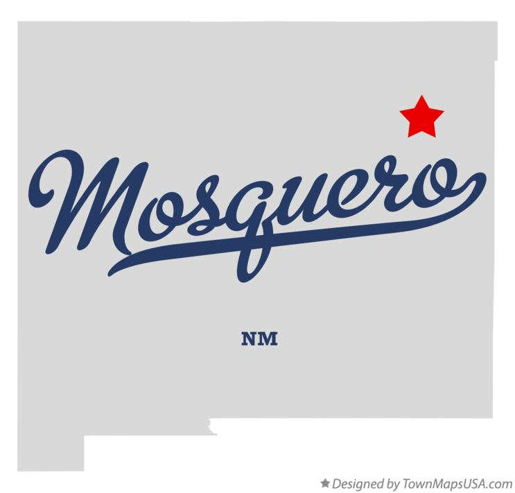 Map of Mosquero New Mexico NM