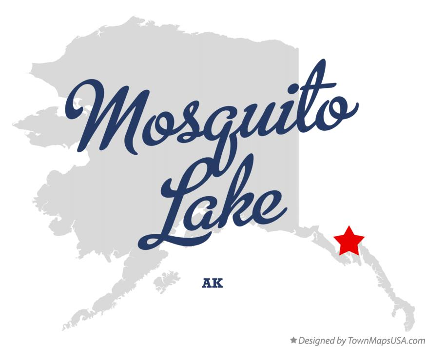 Map of Mosquito Lake Alaska AK