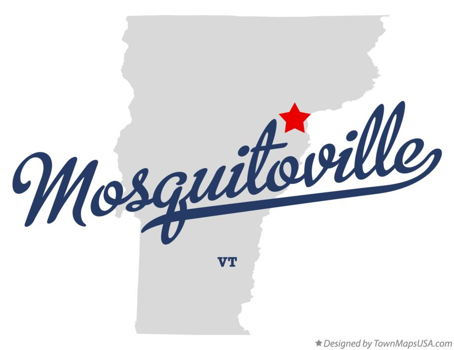 Map of Mosquitoville Vermont VT
