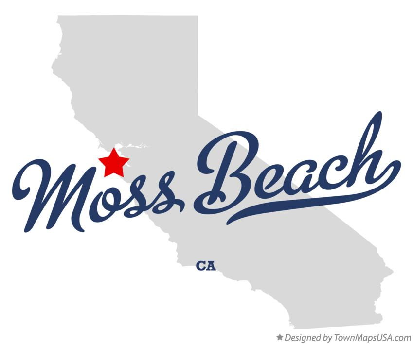 Map of Moss Beach California CA