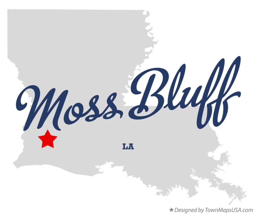 Map of Moss Bluff Louisiana LA