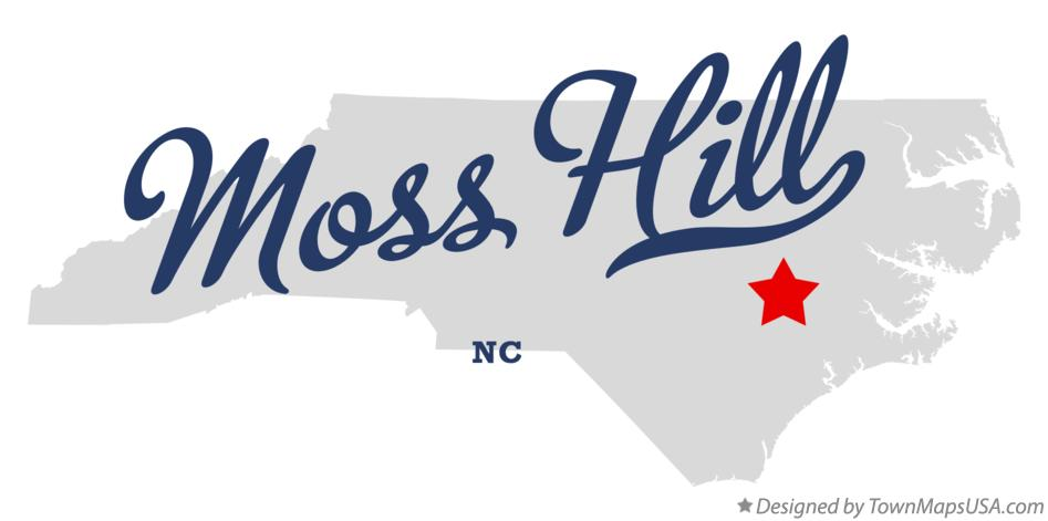 Map of Moss Hill North Carolina NC