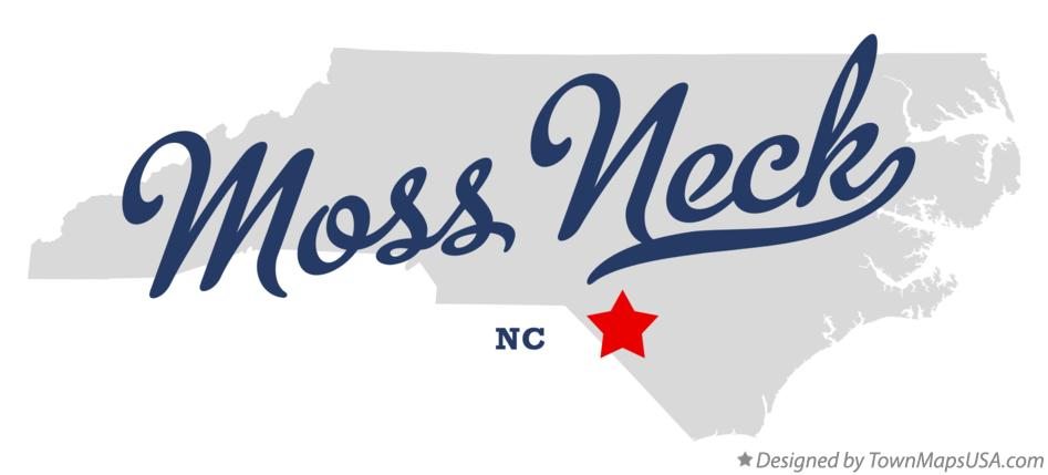 Map of Moss Neck North Carolina NC