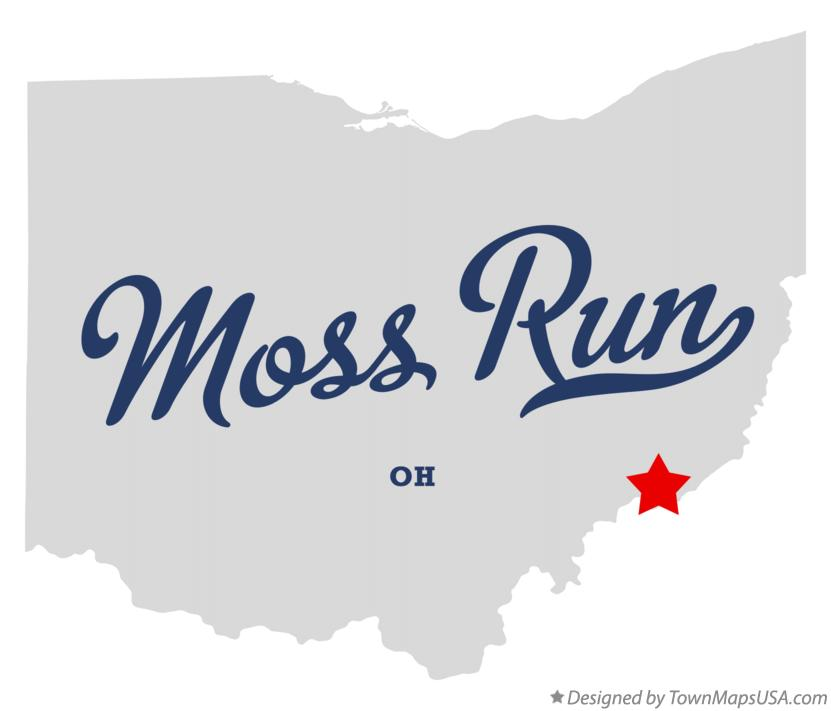Map of Moss Run Ohio OH