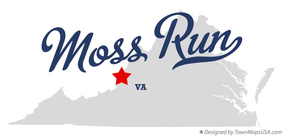 Map of Moss Run Virginia VA