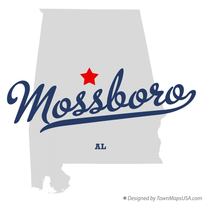 Map of Mossboro Alabama AL