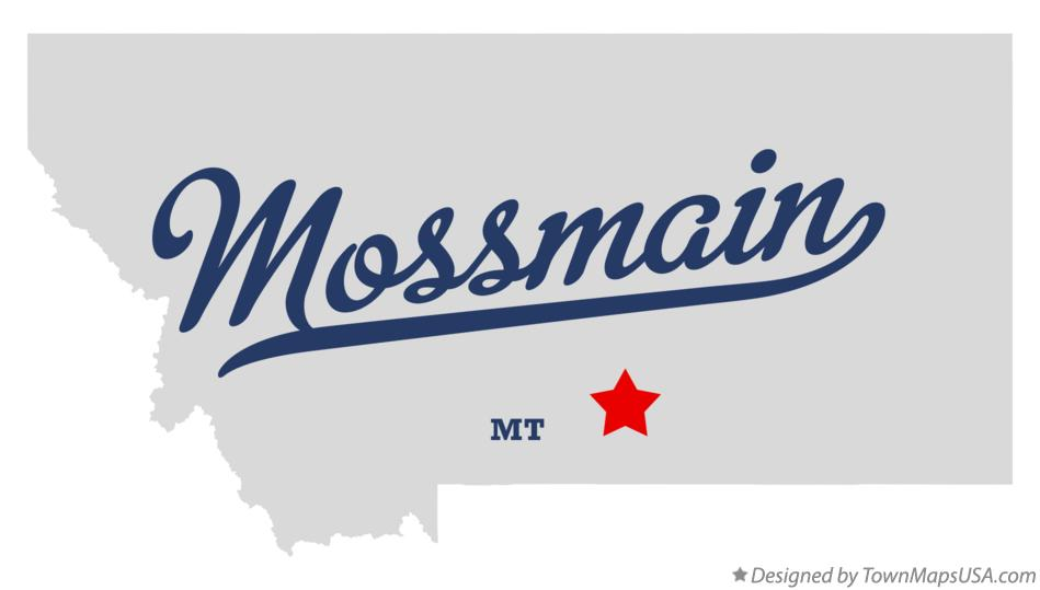 Map of Mossmain Montana MT