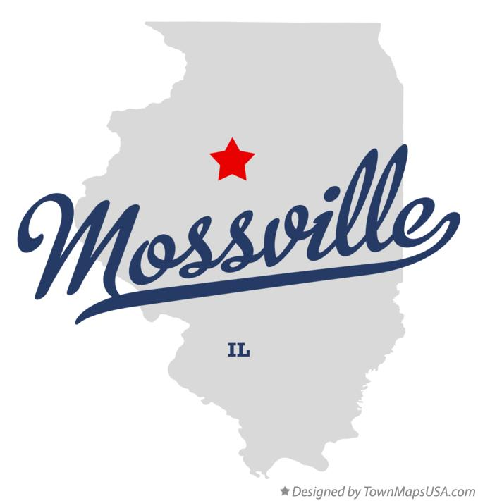 Map of Mossville Illinois IL
