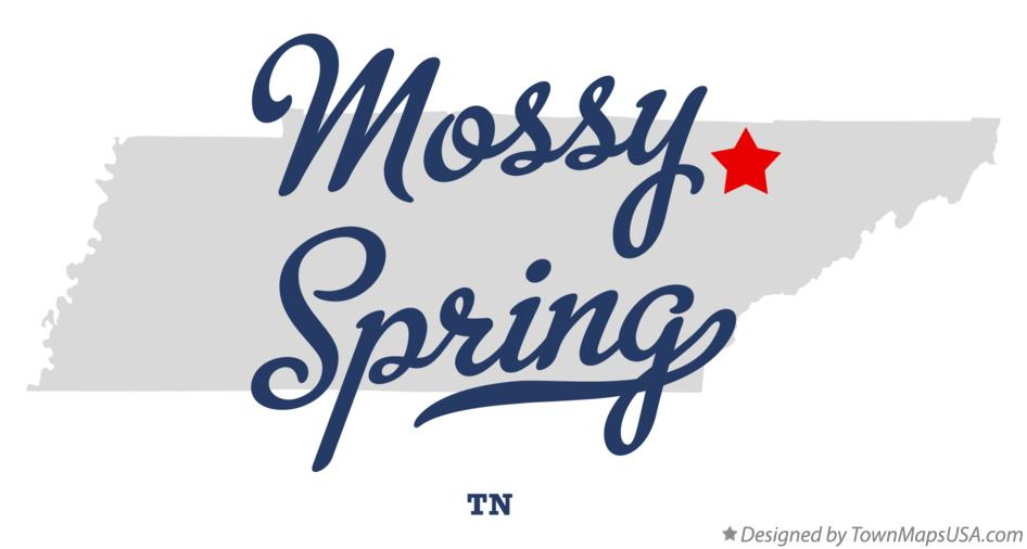 Map of Mossy Spring Tennessee TN