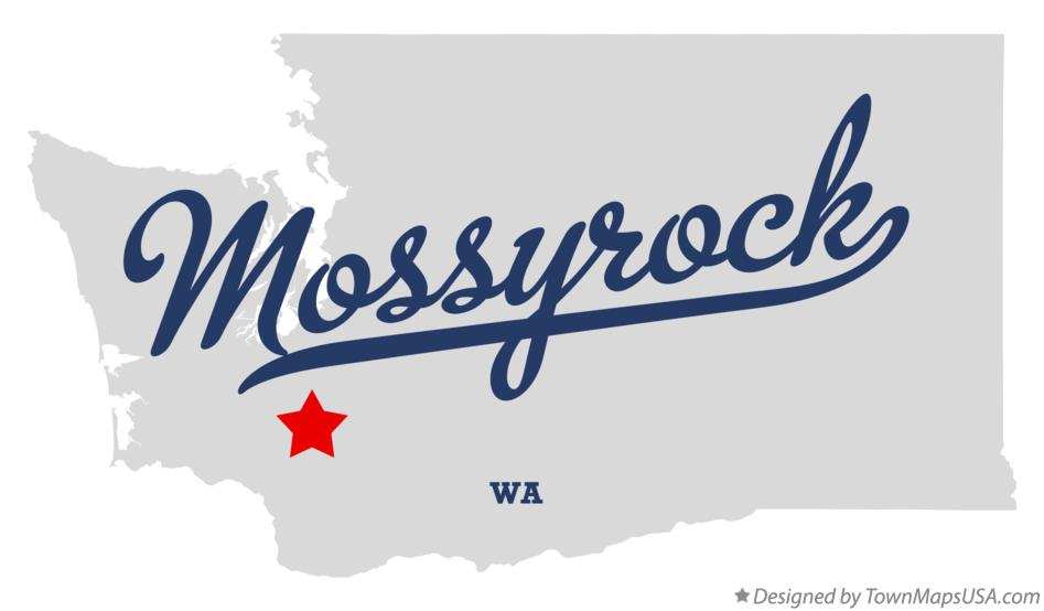 Map of Mossyrock Washington WA