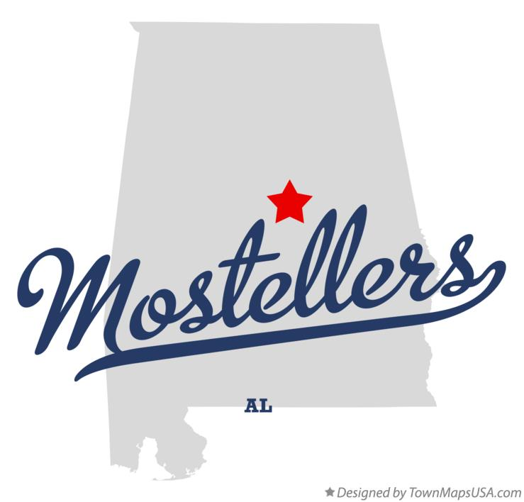 Map of Mostellers Alabama AL