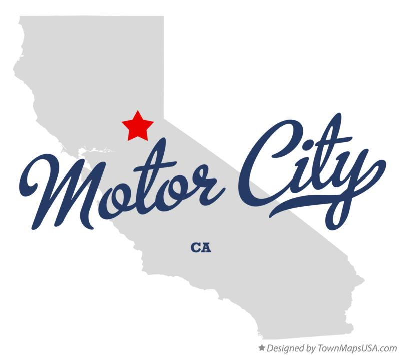 Map of Motor City California CA