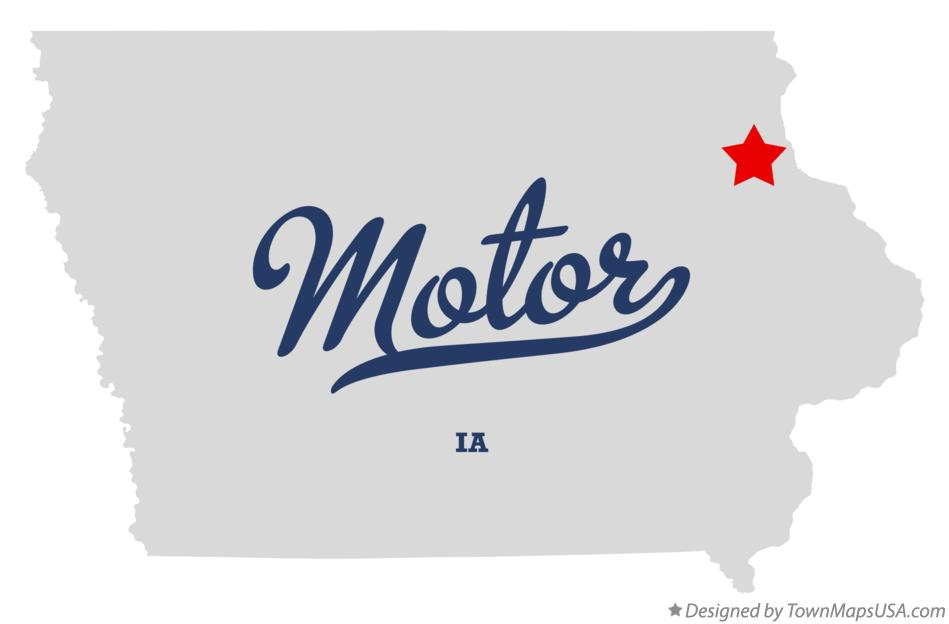 Map of Motor Iowa IA