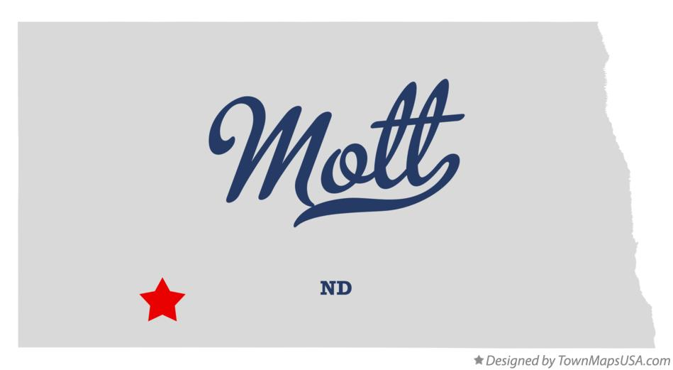 Map of Mott North Dakota ND