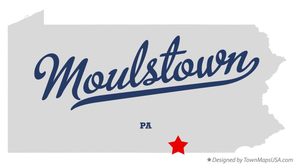 Map of Moulstown Pennsylvania PA
