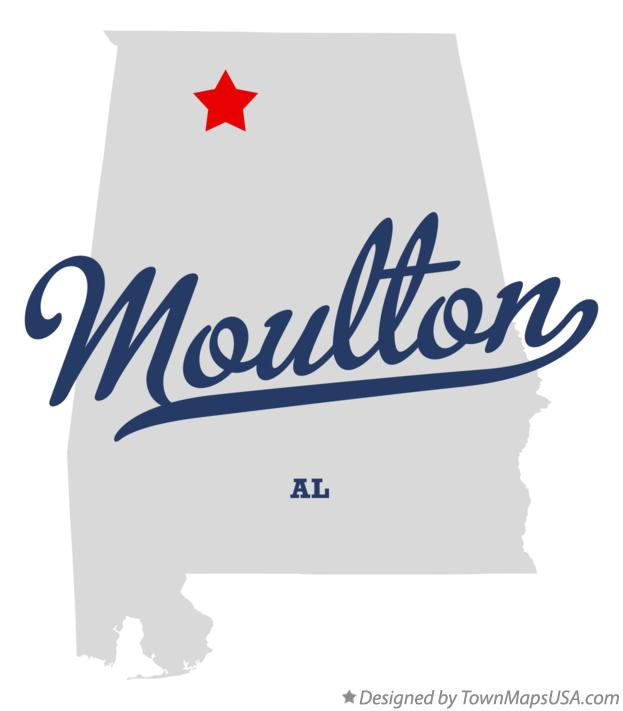 Map of Moulton Alabama AL
