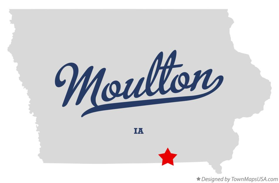 Map of Moulton Iowa IA