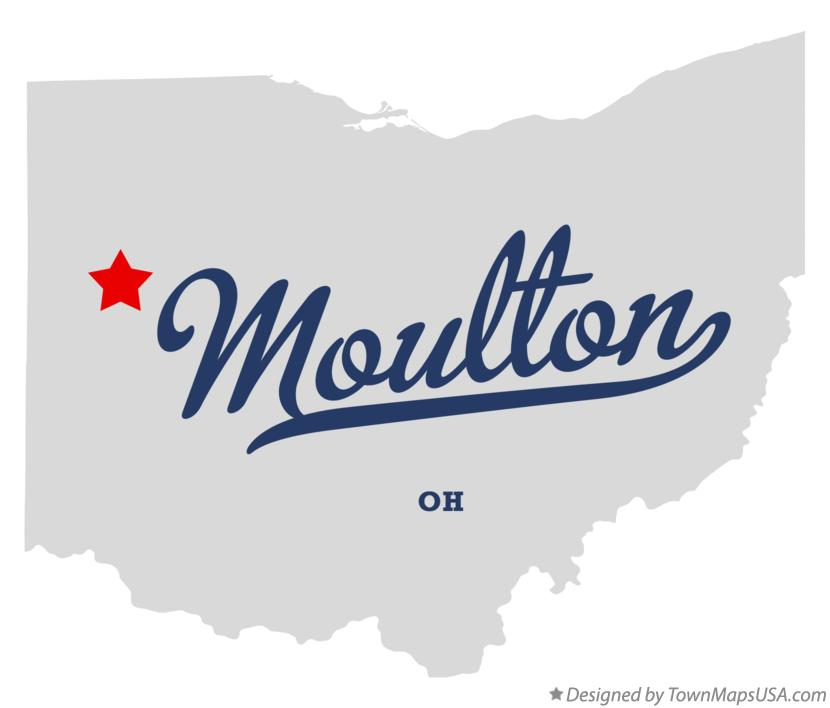 Map of Moulton Ohio OH