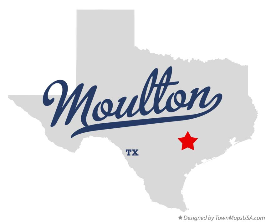 Map of Moulton Texas TX