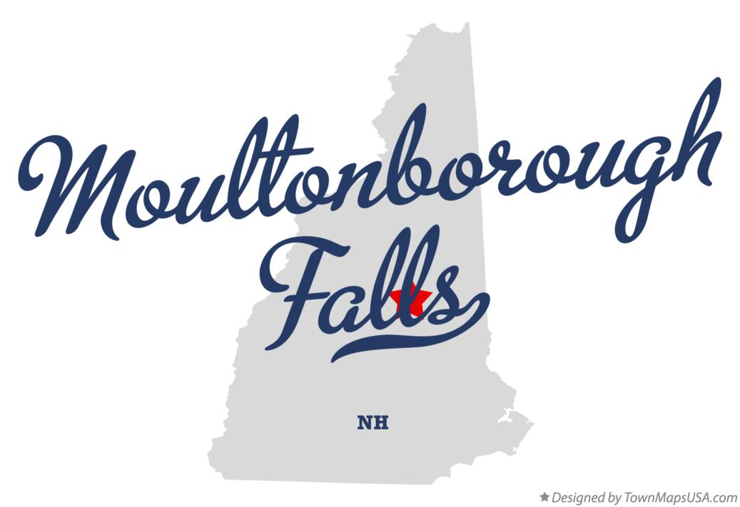 Map of Moultonborough Falls New Hampshire NH