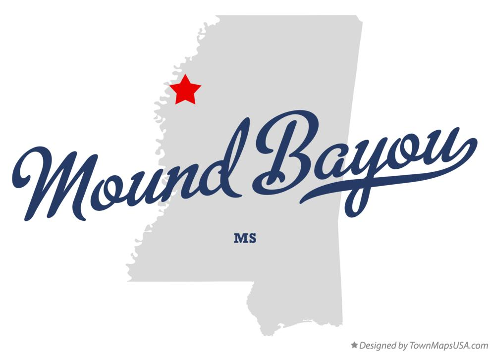 Map of Mound Bayou Mississippi MS
